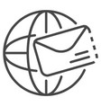 global mail icon outline style vector image