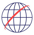 globe icon linear symbol with thin outline vector image vector image