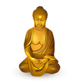 gold buddha vector image vector image