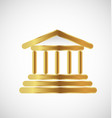 gold column building icon vector image