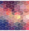 Hipster geometric background made of cubesRetro vector image vector image