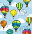 Hot air balloon design vector image vector image