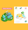 isometric dairy industry composition vector image