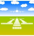 Landing lights vector image