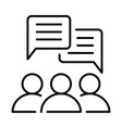 monochrome simple communication icon vector image vector image
