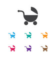 of kid symbol on baby pram vector image vector image