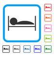 patient sleep framed icon vector image