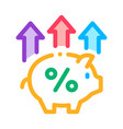 pig money box icon outline vector image vector image