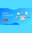 project management banner projector screen vector image
