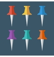 Pushpin flat icon vector image