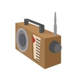 Radio receiver icon cartoon style on white vector image