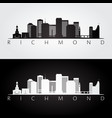 richmond usa skyline and landmarks silhouette vector image vector image