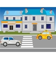Road motion in city vector image