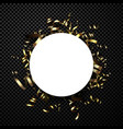 round holiday background with golden serpentine vector image