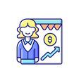 sales department rgb color icon vector image vector image