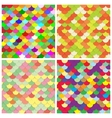 Scale color paper backgrounds set vector image