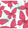 seamless background with bright colorful butterfly vector image