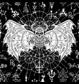 seamless pattern with evil demon 2 vector image vector image