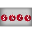 Set of Christmas Sale Tags vector image vector image