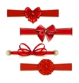Set of elegant silk colored bows vector image vector image