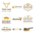 Set of labels templates and logo of butchery meat vector image vector image
