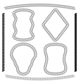 set of rope frames rectangular shape vector image vector image