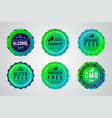 set of round gradient badges vector image