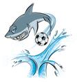 shark sport mascot vector image vector image