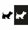 simple silhouette a dog vector image vector image