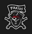 skull captain pirates vector image