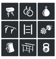 Sports Equipment icons set vector image