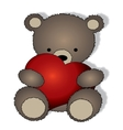 teddy bear with big heart vector image