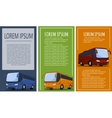 Tourist bus banner set vector image