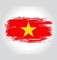 vietnamese flag brush grunge background vector image vector image