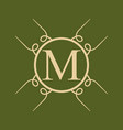vintage ornamental monogram vector image