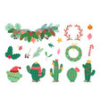 winter holiday decorations christmas wreath vector image