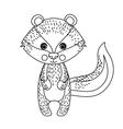 zorrillo cute wildlife icon vector image vector image