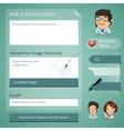 Doctors Online Consultation Form vector image