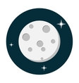 Moon icon flat vector image