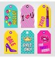 Fashion Pop Art Tags Set vector image