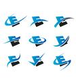 Alphabet E Logo Icons vector image vector image