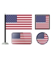 American flag icons vector image
