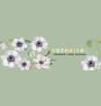 anemones realistic floral header 2020 watercolor vector image vector image