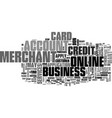 apply for a business credit card text word cloud vector image vector image