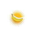 banana icon template vector image