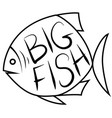 big fish background for text vector image