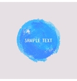 Blue watercolor round element vector image