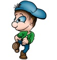 boy with cap vector image