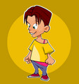 cartoon character a boy or a girl with short hair vector image