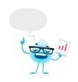 Cartoon Water Drop Speech vector image vector image